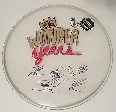 """The Wonder Years band REAL SIGNED 15"""" Artwork Drumhead w/ COA Autographed"""