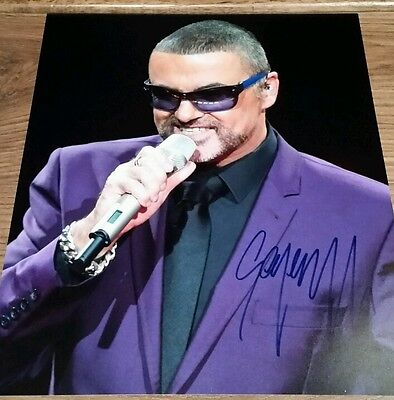 GEORGE MICHAEL Hand Signed Autograph 8 x 10 Photo COA AUTHENTIC RARE