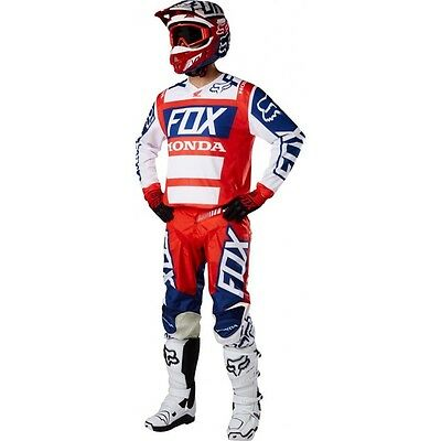 Set Jersey (XL) + Trousers (36) Fox 180 Honda 2017 Mx Gear Cross Enduro