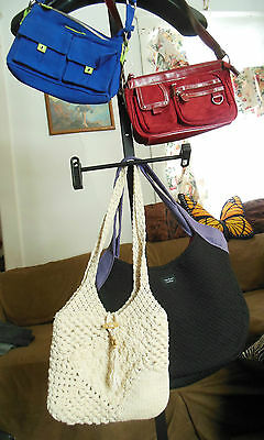 Lot of Handbags Purses  Madison BONGO Crocheted Black White Blue Red Assorted EC