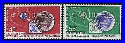Mali 1962 Space / Telstar Sc#40-41 Communications, Joint Issue Mnh  (K-Lm-Dec)
