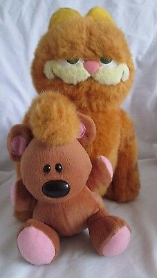 "GARFIELD THE MOVIE 12"" Plush GARFIELD with POOKY POOKIE The teddy bear"