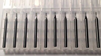 "NEW 3/64"" x 9/64"" Solid Carbide Endmill 4 Flute Square End USA Made 10- Pack"