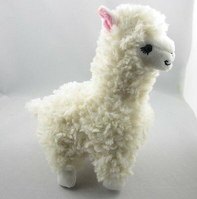 Lovely Alpaca Llama Plush Toy Animal Children Llama Stuffed Animal Doll White
