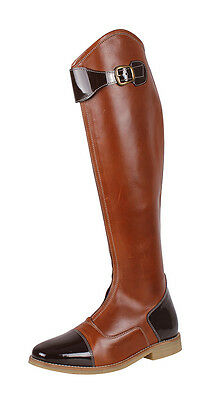 QHP Leather Riding Boots Brown Size 5 Standard Calf