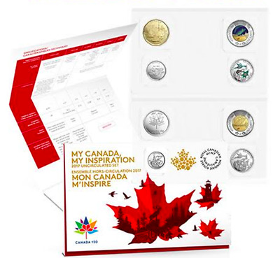 8-Coins Uncirculated Collector Set: 2017 Canada 150th Birthday WINNING DESIGNS