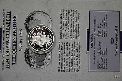 Gibraltar 1 Crown 2000 Silver Proof Queen Mother With Coa Cxqueen6 A60