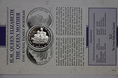 Gibraltar 1 Crown 1999 Silver Proof Queen Mother With Coa Cxqueen15 A60