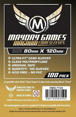 100x Standard Dixit Card Sleeves Magnum Gold Ultra-Fit (80x120mm) MDG7104