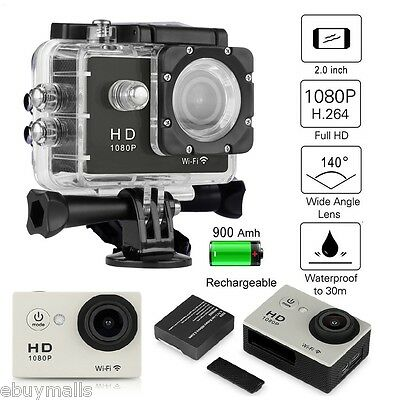 2.0'' Sports Camera VIDEOCÁMARA ACCIÓN CAM 12MP 30M Impermeable HDMI WiFi 1080p
