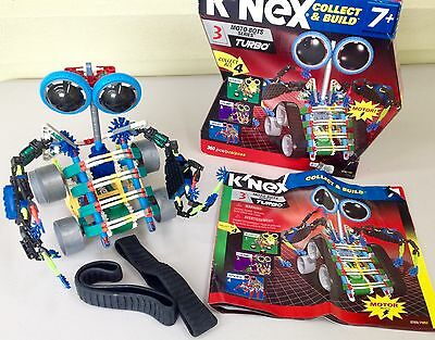 Rare K'NEX Collect & Build MOTO-BOTS Series No. 3 TURBO Complete 360 pcs Moto