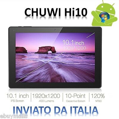 "CHUWI Hi10 Tableta PC 10.1"" Win10+Android5.1 4GB/64GB WiFi 64bit BT4.0 Tablet PC"
