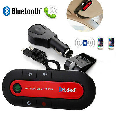 Wireless Bluetooth Car Kit Handsfree Speakerphone Visor Clip iPhone Samsung
