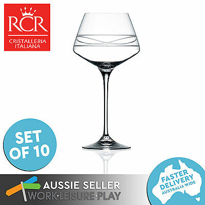 10x RCR Red Wine Goblet Infinito Calice Premium Italian Glass 530mL Gift Set