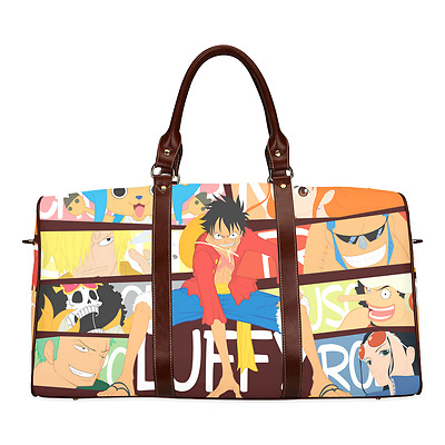 One Piece Cool Luffy Anime Theme Durable Canvas Travel Duffel Bag Ourdoor