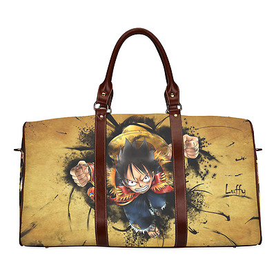 One Piece Crazy Luffy Anime Theme Durable Canvas Travel Duffel Bag Ourdoor