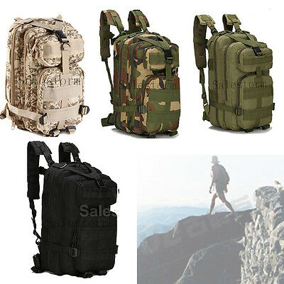 30L 3P Bag Tactical Outdoor Army Military Rucksack Sport Camping Hiking Backpack