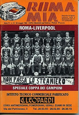 1984 European Cup Final Roma v Liverpool programme