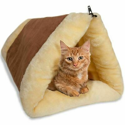 Cat Pet Cave Bed Tunnel Fleece Kitten Slumber Bag Super Soft Mat Pad Warm Nest