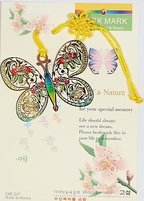 Traditional Korean reader Metal Bookmark - Butterfly03