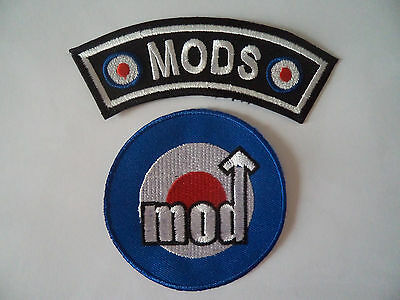 Wholesale 2 Mod Target Scooter Patches Iron / Sew On Northern Soul Vespa