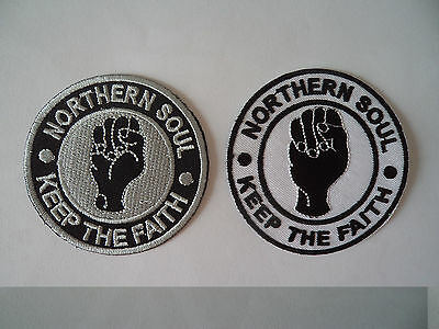 Wholesale 2 Northern Soul Keep The Faith Patches Iron / Sew On Patch Mod Scooter