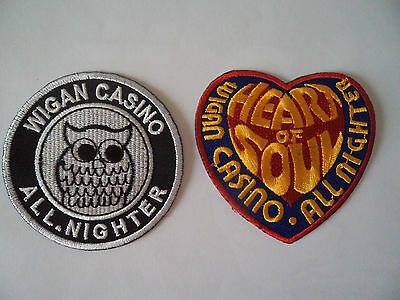Wholesale 2 Northern Soul Wigan Casino Patches Iron / Sew On Patch Mod Scooter