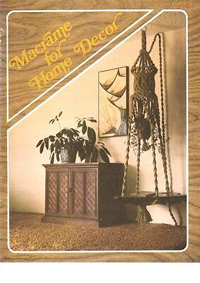 "Vintage 1976 Macrame Pattern Book""macrame For Home Decor"" There Are 13 Projects"