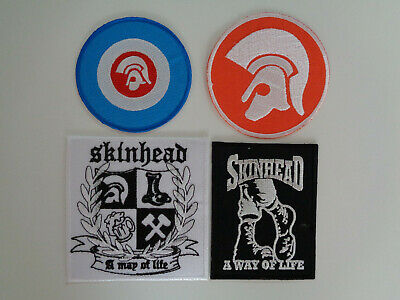 Wholesale 3 Skinhead Trojan Patches Iron / Sew On Patch A Way Of Life