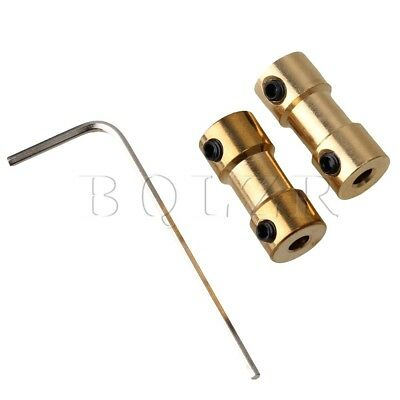 2pcs Brass Joint Motor Shaft Coupling Adapter For RC Aircraft 3.17mm to 3.17mm