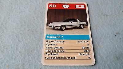 Mazda RX7 RX-7 Original Top Trump Card Free Postage Collectible