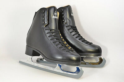 Jackson Marquis JS1993 jnr Figure Skates Black COMPLETE WITH BLADES-Free Postage