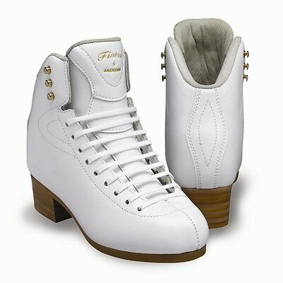 Jackson Finesse DJ2510 senior Figure Skates White BOOT ONLY - Free Postage