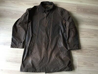 Barbour Merton Mac Brown Wax Jacket A525 Medium