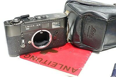 Leica M5 Rangefinder camera body, early 2 lug version, 1972