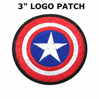 Super Hero The Avengers Captain America Embroidery Iron On Patch Badge Us Seller