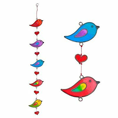 Suncatchers Colorful Bird Stained Glass Effect Resin Mobile - Window Hanging