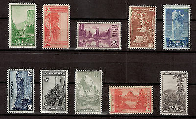 US 1934 Sc#740-49  NATIONAL PARKS 10 Stamps MINT NH