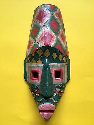African Tribal Hand Carved Wooden Medium 39cm Mask + Free UK Delivery