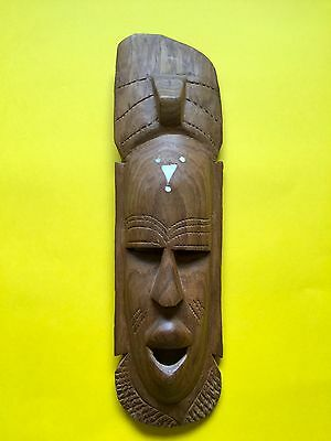 African Tribal Hand Carved Wooden Small 38cm Mask + Free UK Delivery