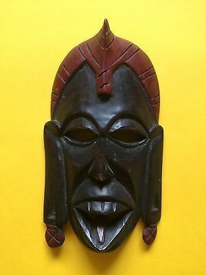 African Tribal Hand Carved Wooden Small 21cm Mask + Free UK Delivery
