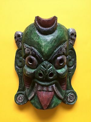 African Tribal Hand Carved Wooden Medium 17cm Scary Mask + Free UK Delivery