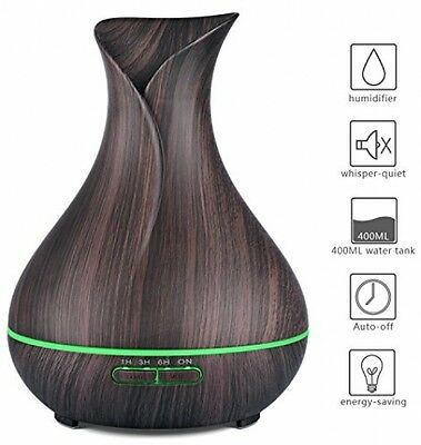 Aroma Diffuser, Aidodo 400ML Essential Oil Diffuser Cool Mist Ultrasonic Color