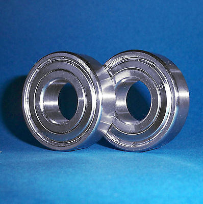 2 Kugellager 6001 ZZ / 12 x 28 x 8 mm