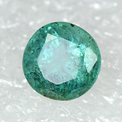 1.04 Cts Natural Untreated Green Emerald Zambia Round Cut Pair 6.5 mm Gemstone $
