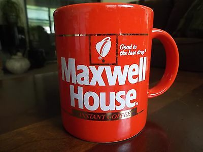 "VINTAGE MAXWELL HOUSE INSTANT COFFEE ""GOOD TO THE LAST DROP"" MUG Japan"