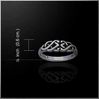 CELTIC INFINITY KNOTWORK Elegant Band Ring Sterling Silver