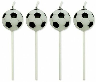 PME Football Candles, Set Of 4