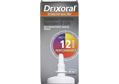 Drixoral Decongestant Nasal Spray 30 mL 12 hour relief NEW IN BOX