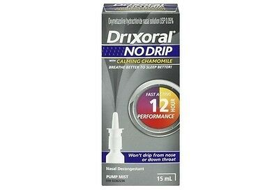 Drixoral NO DRIP with Calming Chamomile Nasal Decongestant 15 ml NEW IN BOX
